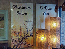 platinum salon signs